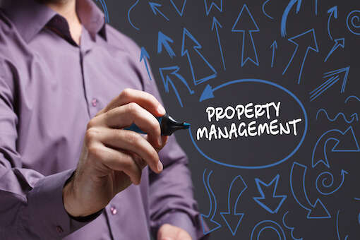 A person writing property management